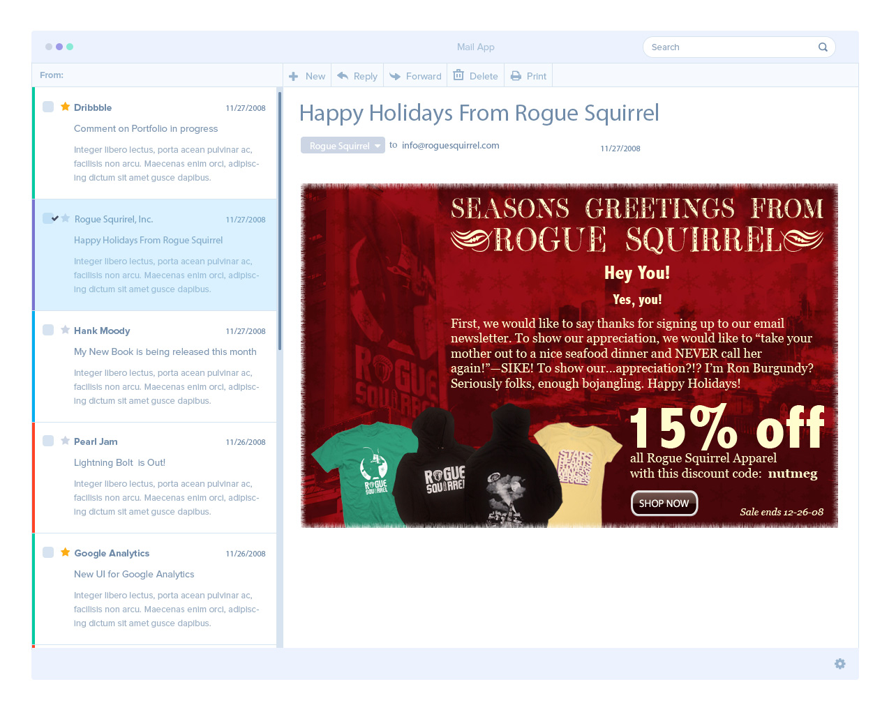 Rogue Squirrel Email Ad