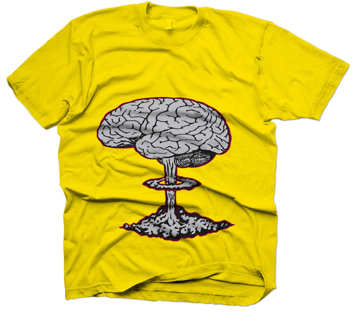 Rogue Squirrel Smart Went Crazy Shirt Yellow